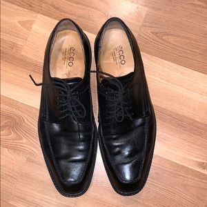 Ecco black leather casual shoes size 12